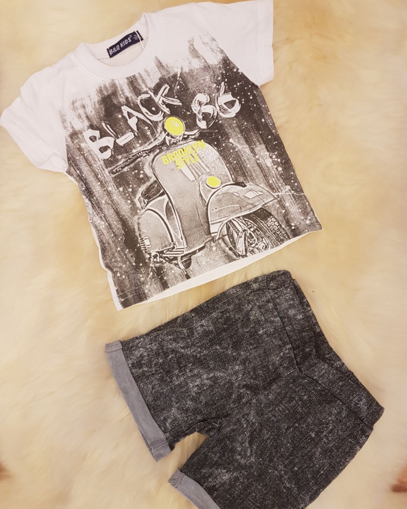 T-särk + lühikesed püksid